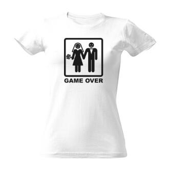 Dámské tričko s potiskem Game over