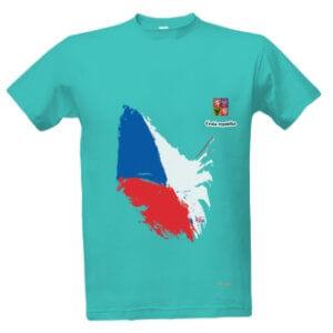 Tričko s českou vlajkou