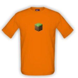 Triko s obrázkem kostičky Minecraft
