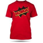 Tričko Bazinga červené