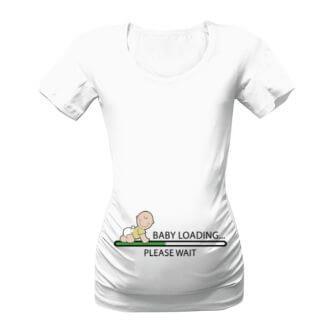 Těhotenské triko Baby loading