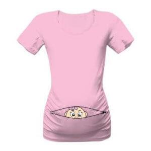 Vtipné těhotenské triko zip holčička