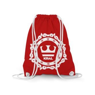 Červený vak Jirka Král s potiskem