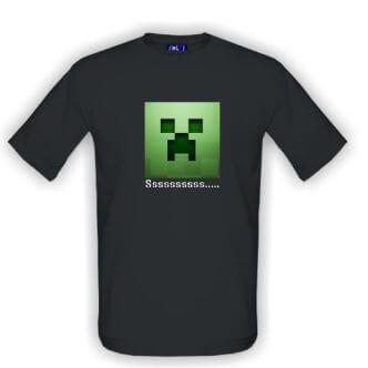 Herní tričko Minecraft Creeper