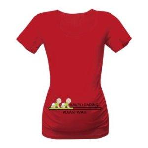 Těhotenské tričko s vtipným obrázkem Babies loading