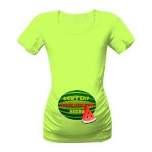 Těhotenské tričko s potiskem Nejezte melounová semínka