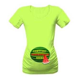 b8db957190c9 Těhotenské tričko s potiskem Nejezte melounová semínka