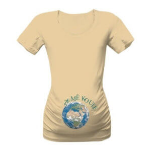 Těhotenské triko s potiskem Ze mě koule