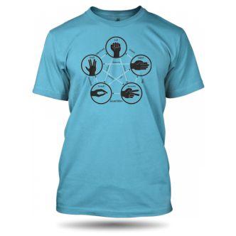 Tričko s potiskem Rock, Paper, Scissors, Lizard, Spock