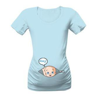Těhotenské tričko s potiskem Ahoj mimi 4c94b66e27