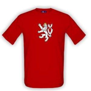 Tričko s potiskem Český lev