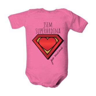 Dětské body s potiskem Superhrdina po mámě