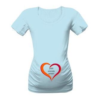 Těhotenské tričko s potiskem Miminko spinká