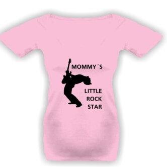 Těhotenské tričko s potiskem Rocková hvězda