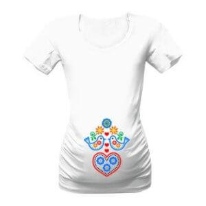 Těhotenské tričko s potiskem Dítě folkloru