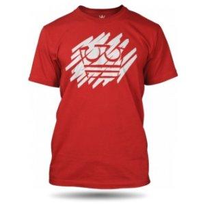 Červené tričko Jirka Král s potiskem Bílá koruna