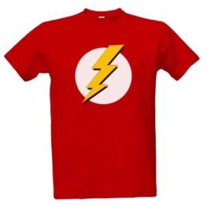 Pánské červené tričko Flash Logo