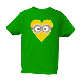 Dětské tričko s potiskem Mimoň srdce