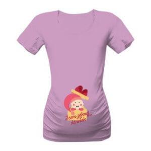 Těhotenské tričko s potiskem Jsem pěknej dáreček holka