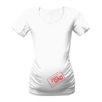 Těhotenské tričko s potiskem Designed by DAD