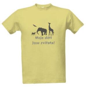 Tričko s potiskem Moje děti jsou zvířata