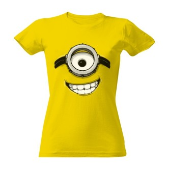 Dámské tričko s potiskem Mimoň usměvavá tvář