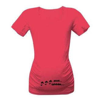 Těhotenské tričko s potiskem Pst, spinkám
