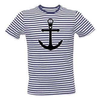 Pruhované tričko s kotvou