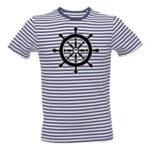 Pruhované tričko s kormidlem