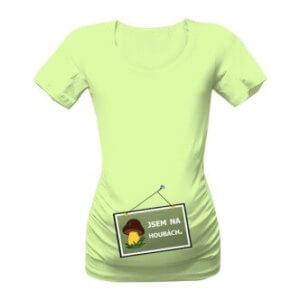 Těhotenské tričko s potiskem Na houbách