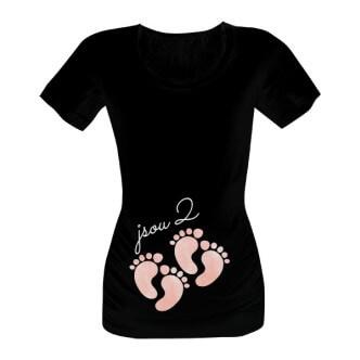 Těhotenské tričko s potiskem Jsou 2