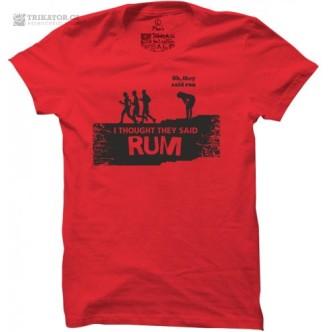 Tričko s potiskem Rum