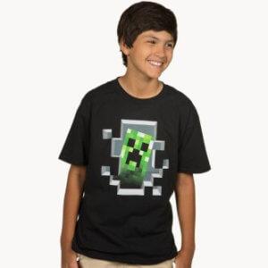 Dětské tričko s potiskem Minecraft Creeper Inside