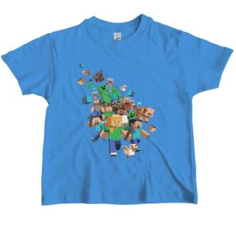 Tričko s potiskem figurky Minecraft
