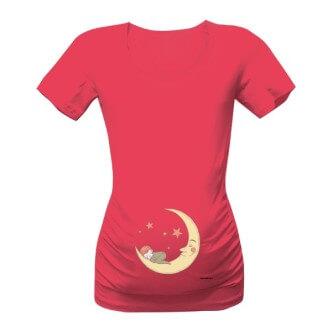 Těhotenské tričko s potiskem Zatím spinká