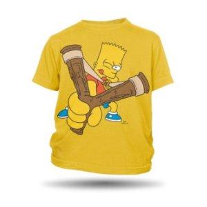Dětské tričko s Bartem Simpsonem Prak