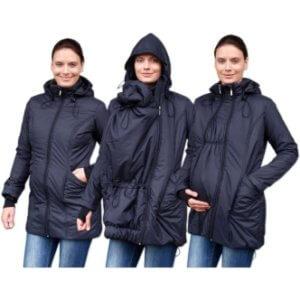 Zimní bunda na nošení dětí černá