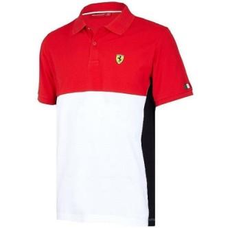 Pánské Ferrari polo tričko červeno bílé