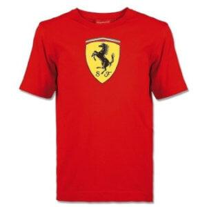 Ferrari triko s velkým znakem pánské červené