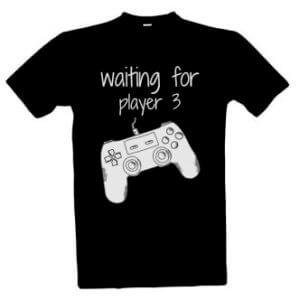 Tričko pro tátu s potiskem Waiting for player 3
