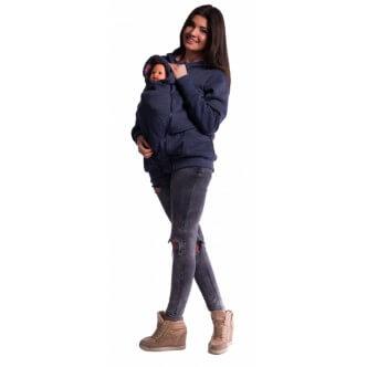 Mikina na nošení dětí granát jeans