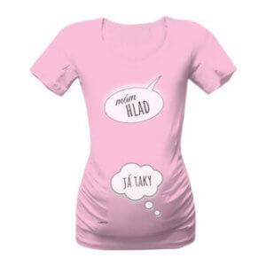 Těhotenské tričko s potiskem Mám hlad