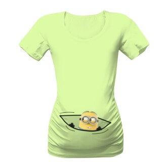 Těhotenské tričko s potiskem Mimoň v kapse