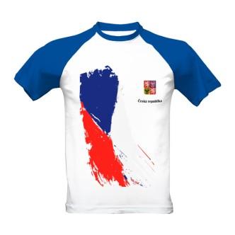 Tričko s potiskem Česká republika vlajka a znak