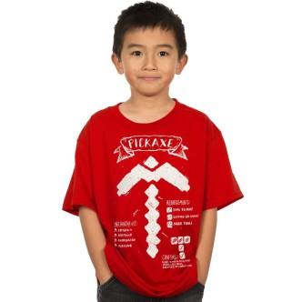 Dětské tričko Minecraft s potiskem Pickaxe Diagram