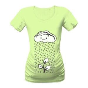 Těhotenské tričko s potiskem Mrak