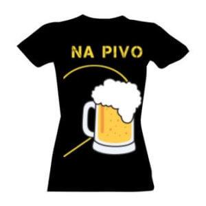 Tričko s potiskem Společně na pivo dámské