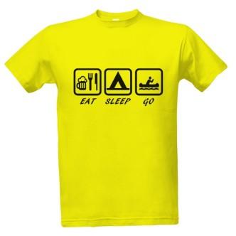 Tričko pro vodáky s potiskem Eat, Sleep, Go