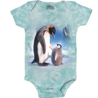 Dětské body s potiskem Tučňáci na ledovci
