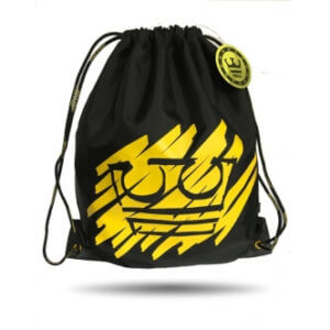 Jirka Král vak černý s potiskem žlutá koruna polyesterový